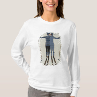 <Lovers in the Snow> by Georges Barbier T-Shirt