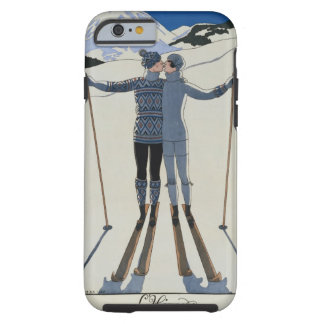 <Lovers in the Snow> by Georges Barbier Tough iPhone 6 Case