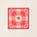 "Lover's Initials Valentine Plaid Square Chiffon Scarf<br><div class=""desc"">Lover"