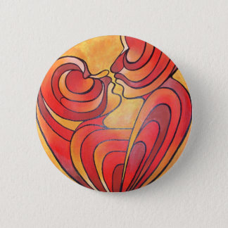 Lovers Kiss And Their Bodies Form A Love Heart Button