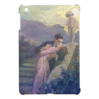 Lovers Kiss Vintage Couple with Cupid iPad Mini Covers
