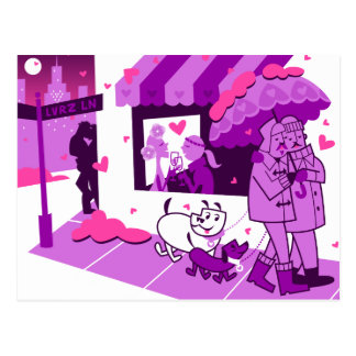 Lovers Lane Postcard