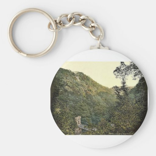 Lover's Leap, Dargle. Co. Wicklow, Ireland magnifi Keychains