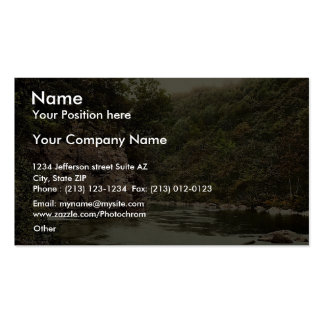 Lovers leap, Holne Chase, Dartmoor, England magnif Business Card Templates