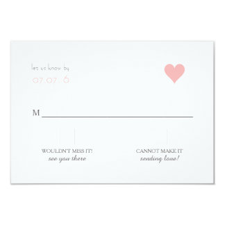{Lover's} Modern Wedding RSVP Card