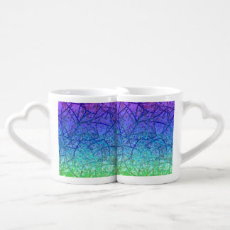 Lovers Mug Grunge Art Abstract
