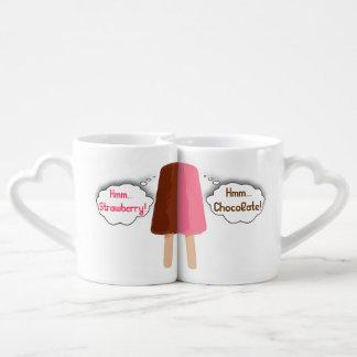 Lovers Mug Set Chocolate Strawberry Ice-cream Couples' Coffee Mug Set