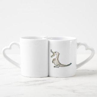 Lovers' Mug set con Eulchen y Dino Set De Tazas De Café