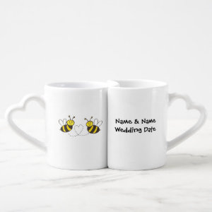 Lovers' Mug Set Customized Name & Wedding Date