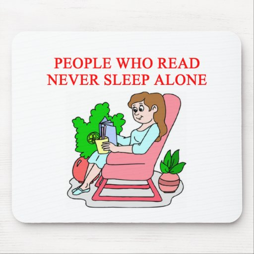 lovers of books and reading mouse pad