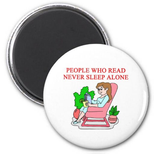lovers of books and reading refrigerator magnet