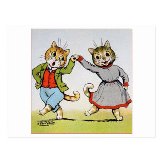 Lovers of cats, Louis Wain Postcard