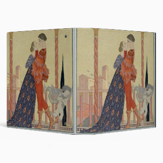 Lovers on a Balcony (w/c on paper) Binder