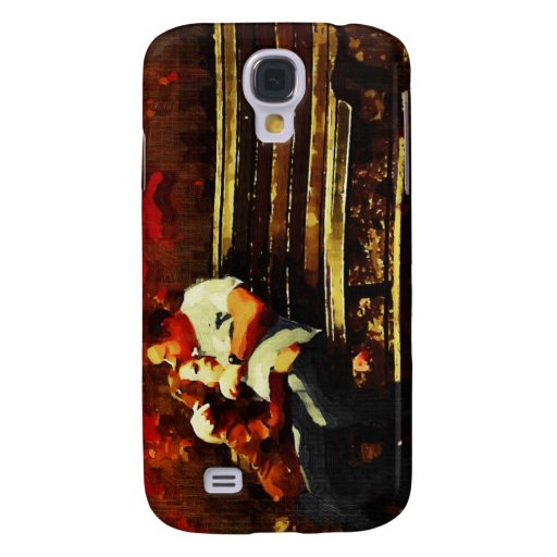 "Lovers on a Bench, ""Old"" Oil Samsung Galaxy S4 Cases"