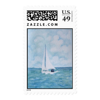 Lovers on a Sailboat Postage