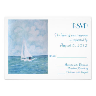 Lovers on a sailboat - RSVP Custom Announcements