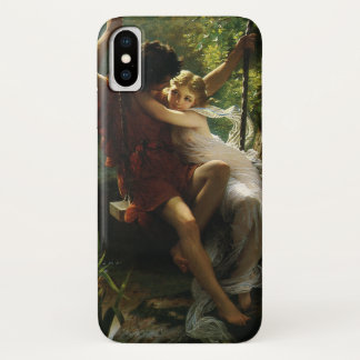 Lovers on a Swing. Spring by Pierre Auguste Cot iPhone X Case