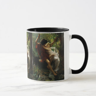 Lovers on a Swing. Spring by Pierre Auguste Cot Mug