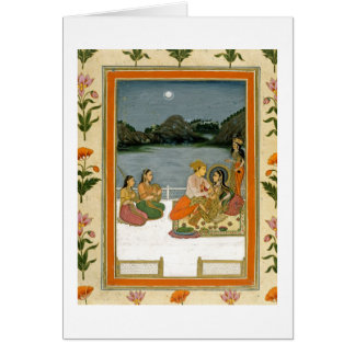 Lovers on a terrace by a moonlit lake, from the Sm Greeting Card
