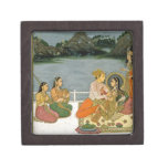 Lovers on a terrace by a moonlit lake, from the Sm Gift Box
