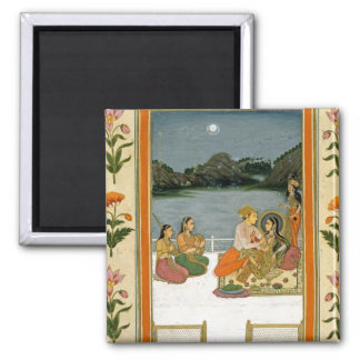 Lovers on a terrace by a moonlit lake, from the Sm Magnet
