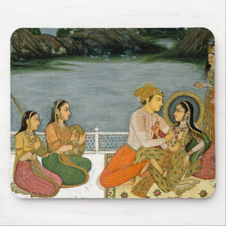 Lovers on a terrace by a moonlit lake, from the Sm Mouse Pad