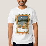 Lovers on a terrace by a moonlit lake, from the Sm T Shirt