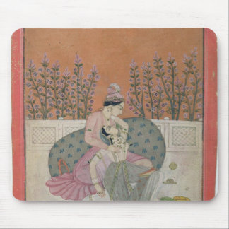 Lovers on a Terrace, Pahari Mouse Pad