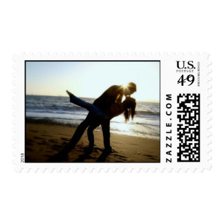 Lovers on Beach Postage