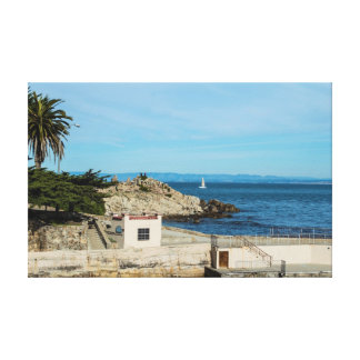 lovers point pacific grove canvas print