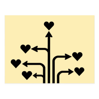Lovers Postcard Only You Signpost
