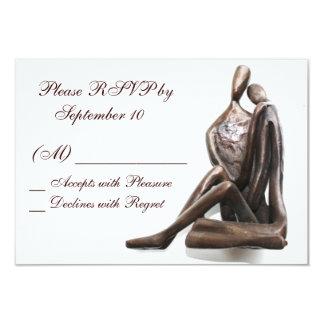 Lovers Sculpture RSVP Card