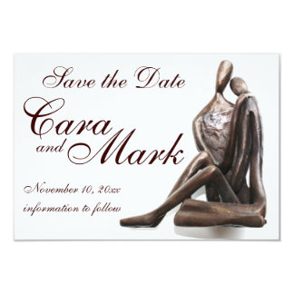 Lovers Sculpture Save the Date Card