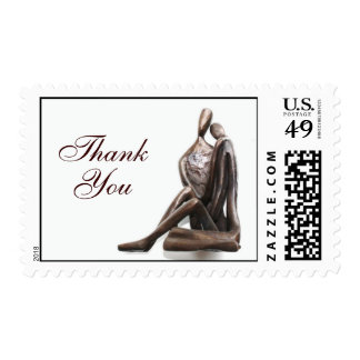 Lovers Sculpture Thank You Stamps