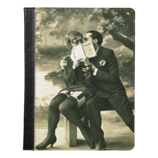 Lovers Secrets Sexy Vintage Pin-Up Couple Love iPad Case