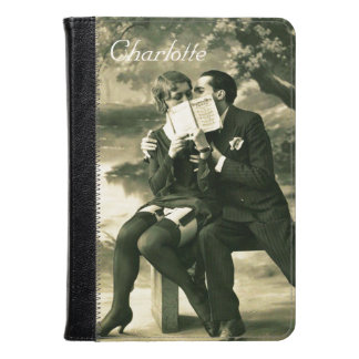 Lovers Secrets Sexy Vintage Pin-Up Couple Love Kindle Case