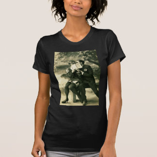 Lovers Secrets Sexy Vintage Pin-Up Couple Love T-Shirt
