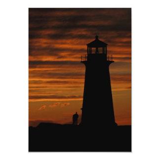 Lover's Silhouette, Peggy's Cove, Nova Scotia Card
