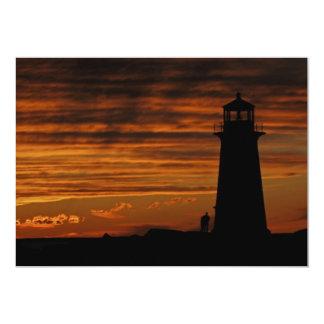 """Lover's Silhouette, Peggy's Cove, Nova Scotia 5"""" X 7"""" Invitation Card"""
