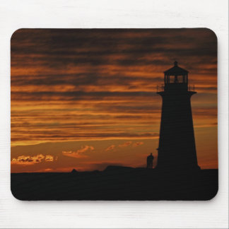 Lover's Silhouette, Peggy's Cove, Nova Scotia Mouse Pad