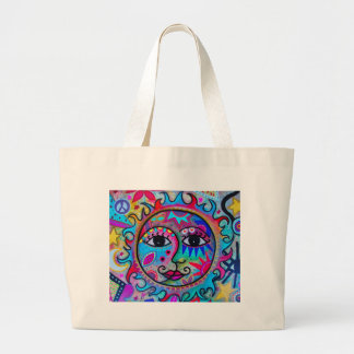 LOVERS SUN AND MOON LARGE TOTE BAG