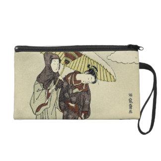 Lovers Under an Umbrella Wristlets