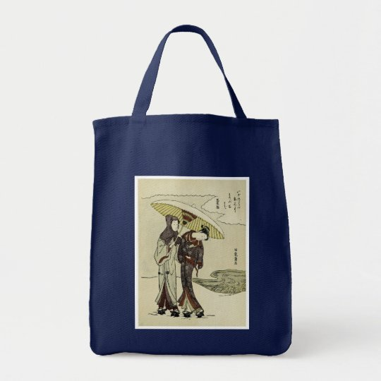 Lovers Under an Umbrella Tote Bag