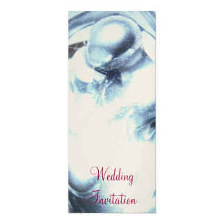 "Lovers Wedding Invitations 4"" X 9.25"" Invitation Card"