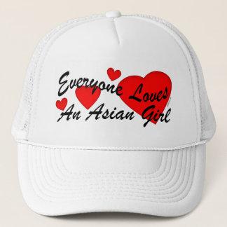 Loves Asian Girl Hat