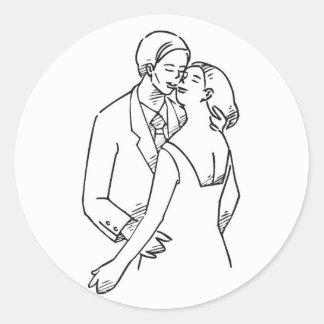 Loves Embrace Round Sticker