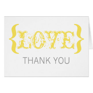 Love's Embrace Thank You Card, Marigold Card