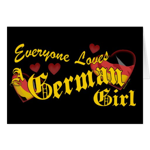 Loves German Girl Card
