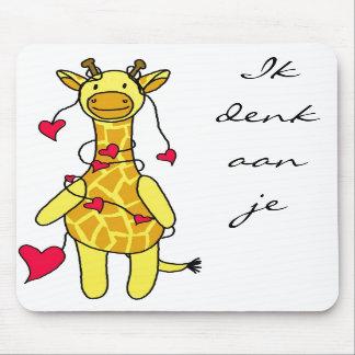 Loves giraffe mousepad