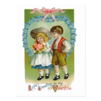 Love's Greeting to My Valentine Postcard